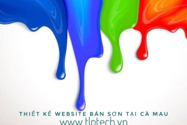 Thiết kế website bán sơn tại Cà Mau.