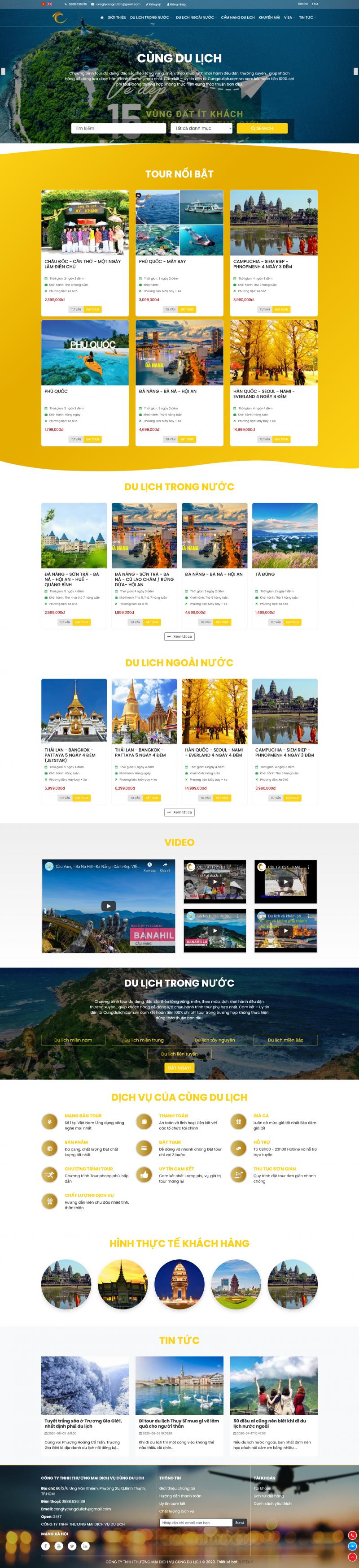 Thiết kế web du lịch - Cùng Du Lịch