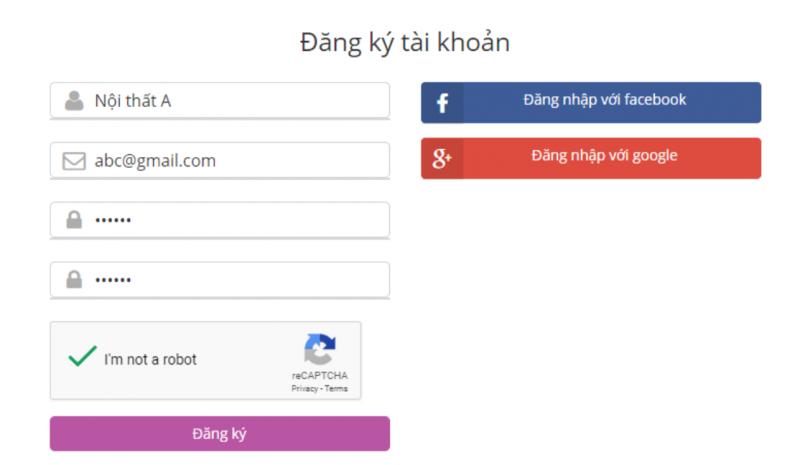 Đăng ký - đăng nhập với Facebook và Google