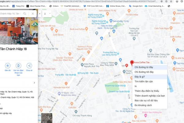 Cách lấy tọa độ google map để cập nhập vào web