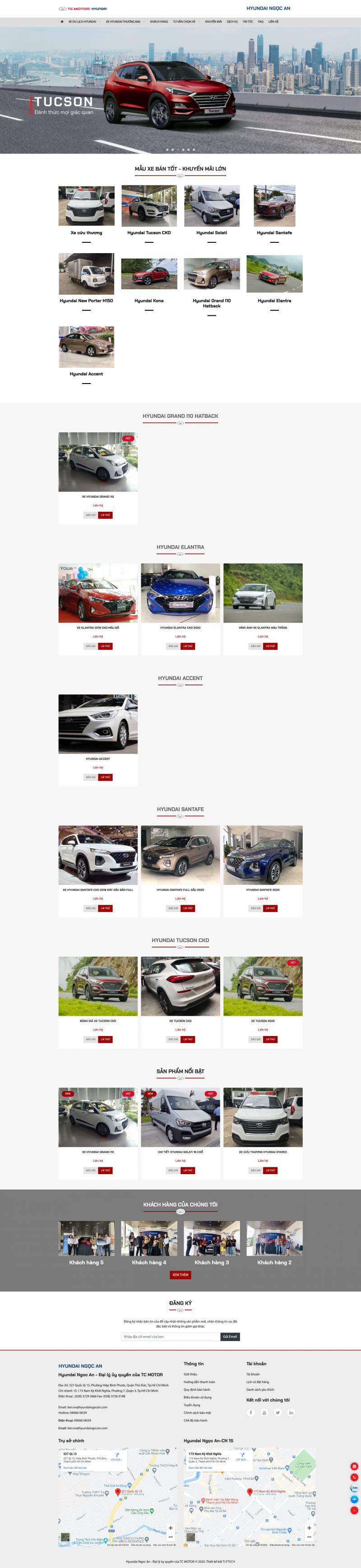 Web bán ô tô Hyundai