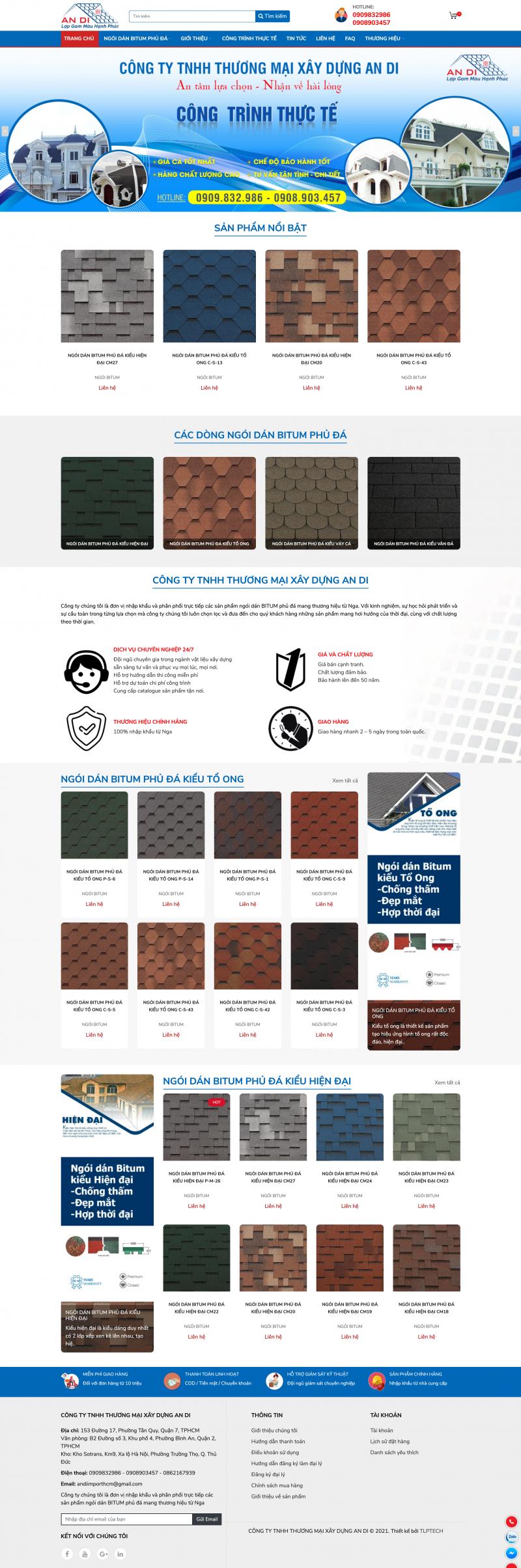 Thiết kế web Ngói Bitum